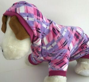 Top Paw Pink Plaid Hoodie for Pet Dog NWT