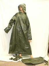 Enclosed  crackley  SMOOTH PLASTIC CAPE & mittons hooded  Mackintosh TV Mistress