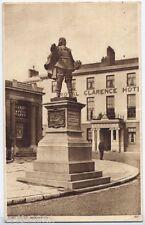 Bridgwater, Somerset, England vintage Postcard - Robert Blake Statue - 1972