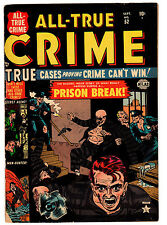 ALL TRUE CRIME #52 4.5 TAN TO CREAM PAGES GOLDEN AGE