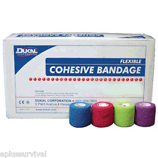 """24 Individually Wrapped 3"""" Cohesive Elastic Bandages First Aid Survival Kits"""