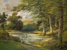 Canvas Print Woods Creek Landscape painting Picture Printed on canvas 16X20 inch