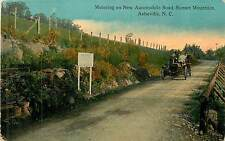 North Carolina, NC, Asheville, Motoring on New Automobile Road Early Postcard
