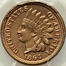 1864 PCGS MS63 COPPER NICKLE INDIAN HEAD CENT- VERY CLEAR SURFACES / REAL BEAUTY
