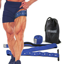 New BFR Bands Quad Wrap Leg and Calf Occlusion Training Bands X2 - 3 inches wide