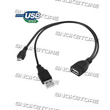 MICRO USB male + USB 2.0 AM TO USB AF cable OTG L. 30cm cavetto microusb TO USB