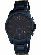 Armani Exchange Men's AX2512 Blue Stainless-Steel Plated Quartz Dress Watch