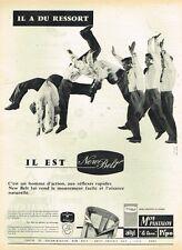 D- Publicité Advertising 1958 Les pantalons pour homme New Belt