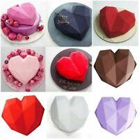 Large Baking Diamond Love Hearts Shaped Silicone Cake Mold Chocolate Molds DIY