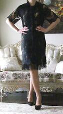 Unique STELLA McCARTNEY Runway Fringes Layered Lace dress IT 34,US 0-2,XXS-XS