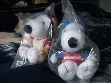 Met Life Baseball Snoopy & Race Car Driver Snoopy Peanuts plush