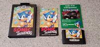 Sonic the Hedgehog 1 Sega Genesis First 1st Print Retail Version CIB Complete !!