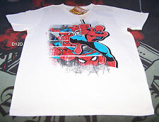 Marvel Comics Spiderman Mens White Printed T Shirt Size M New