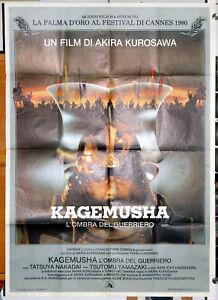 original italian movie poster KAGEMUSHA Akira Kurosawa 1980