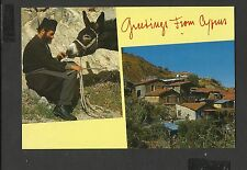 Colour Duel View  Postcard Greetings from Cyprus posted 1997