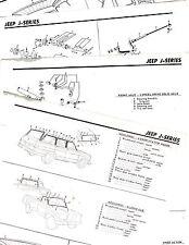 1960'S JEEP J SERIES PANEL PICKUP MODELS ORIGINAL MOTOR CRASH SHEETS MOR5 4PAGES