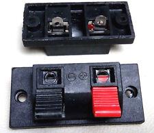 Paar  kleine Lautsprecher Anschlussklemmen Kunststoff