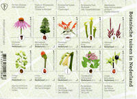 Netherlands 2017 MNH Botanical Gardens 10v M/S Flowers Plants Trees Stamps