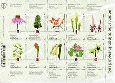 Netherlands 2017 MNH Botanical Gardens 10v M/S Flowers Plants Trees Stamps