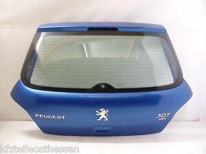 Peugeot 307 F Bj01-05 Schräghecklimo 3 Türer Heckklappe mit Scheibe blau KMF