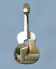 GUITAR Shaped Mirror 30 x 12cm Safe Shatterproof Silver Mirror Acrylic NEW