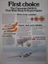 4/1982 PUB INNOTECH AVIATION MONTREAL AIRPORT DE HAVILLAND DASH 8 ORIGINAL AD