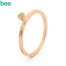 Classic Peridot Pt Stackable Mix And Match 9ct 9k Solid Rose Gold Ring