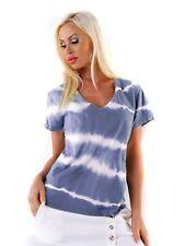 Kurzarm T- Shirt Freizeit Batik mit V-Neck
