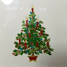 Vintage Otagiri Christmas Tray Holiday Tree Mcm Japan a5
