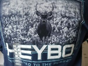 New Heybo Mens Deer Hunting Navy Blue Cotton Long Sleeve Small