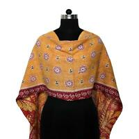 Cotton Kantha Scarf Vintage Head Wrap Stole Dupatta Hand Quilted Women Shawl