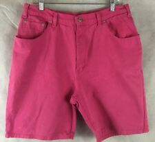 Jordache Womens  Pink Jean Shorts  Size 16 Cotton USA Made High Waist