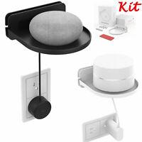 White Speaker Wall Mount Bracket Stand Kit For Sonos Play:1 Echo Dot Google Home