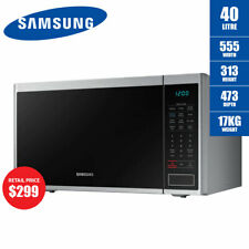 Samsung 40L Neo Microwave Oven 1000W Stainless Steel MS40J5133BT Ceramic Enamel