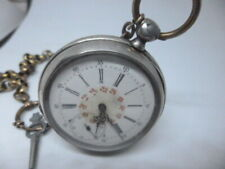 Louis ulysees Chopard, Key Vent, with chain, silver, pocket watch, Run, m002