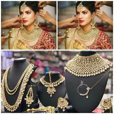 Bollywood Kundan Choker Necklace Jewelry CZ Full Bridal Jewellery Set Raani Haar