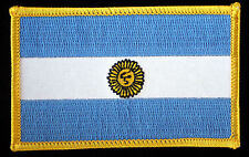 ARGENTINA FLAG PATCH Bandera Oficial de Ceremonia SUN OF MAY BLUE AND WHITE WOW!