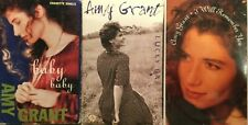 3 Amy Grant Single Cassette Tapes Lot Baby Baby Lucky One I Will Remember You