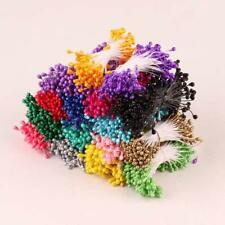 280x Artificial Flower Stamen Double Tip Pearlized Craft Cards Cakes Decor DSS