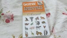 BRAND NEW/SEALED Brother/Deco (Not 300 Series) Embroidery Card Animals OOP
