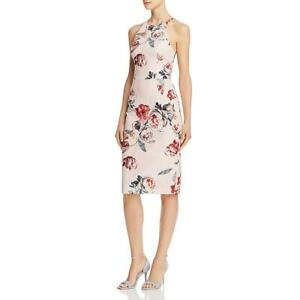 Black Halo Womens Montego Pink Floral Print Sleeveless Party Dress 6 BHFO 2165