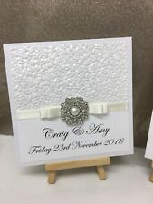 Personalised Vintage Pearl Wedding Invitations Pocketfolds- Any Colour
