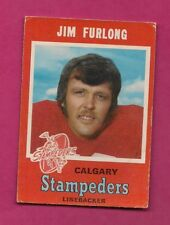 1971 OPC # 122 STAMPEDERS JIM FURLONG VG CARD (INV# A4388)