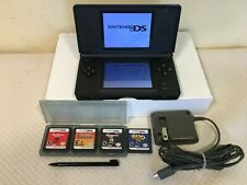 Nintendo DS Lite Handheld System with Charger, 4 Games, Tested and Works