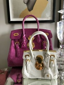 Ralph Lauren Purple Label Crocodile Mini Ricky Bag