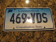 CONNECTICUT CONSTITUTION STATE FADE GRAPHIC LICENSE PLATE 469 YDS YARDS FOOTBALL