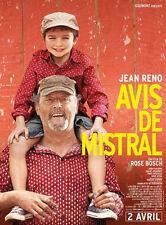 Affiche 40x60cm AVIS DE MISTRAL 2014 Jean Reno, Chloé Jouannet, De Turckheim