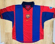 More details for original fc barcelona football shirt nike large 2000/2001 00s 💥