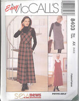 McCall's 8403 Misses' Jumper in Two Lengths - Sewing Pattern