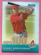 2010 Bowman Chrome Baseball Bobby Borchering Topps 100 Prospects Refractor /499